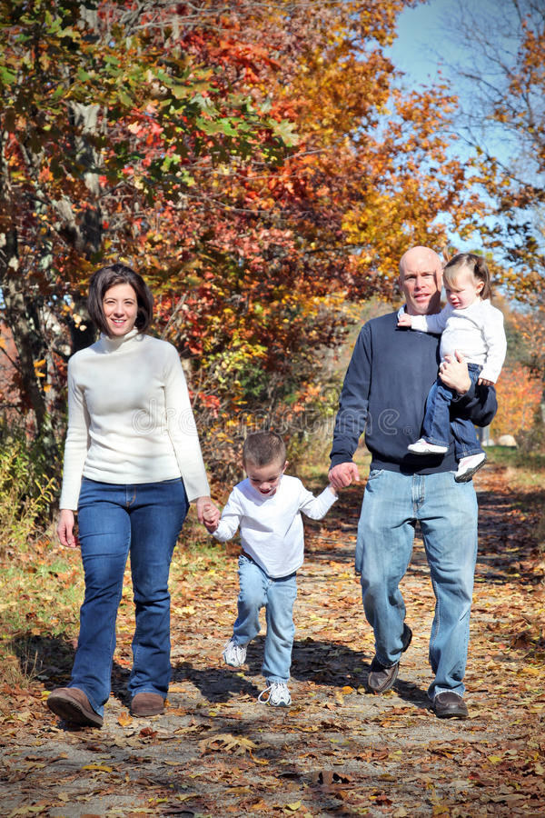 Download Family walk stock photo. Image of four, beautiful, outside - 11549480