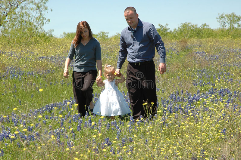 Family Walk Stock Image