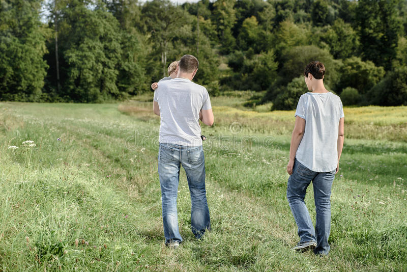 Download Family walk stock photo. Image of leisure, forest, recreational - 42956982