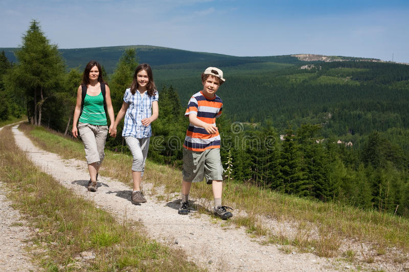 Download Family walking stock photo. Image of adolescent, kids - 10278468