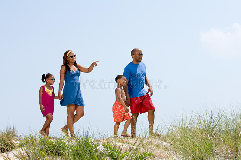 Family walking royalty free stock images