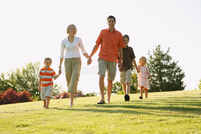 Download Family Walking stock image. Image of casual, happiness - 7657843