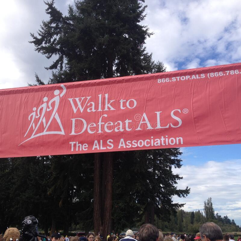 Family Support for ALS Walk royalty free stock photo