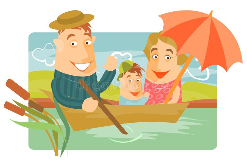 Download Family weekend stock vector. Illustration of happy, nature - 18876704