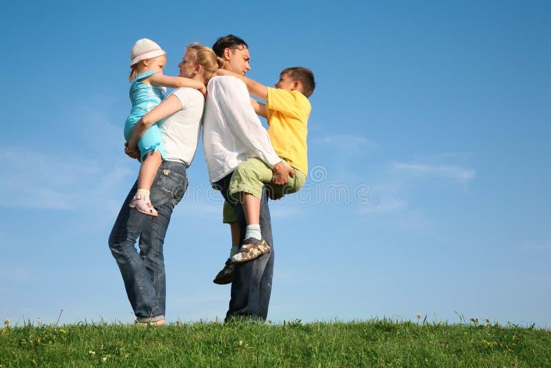 Family wih children stock photos