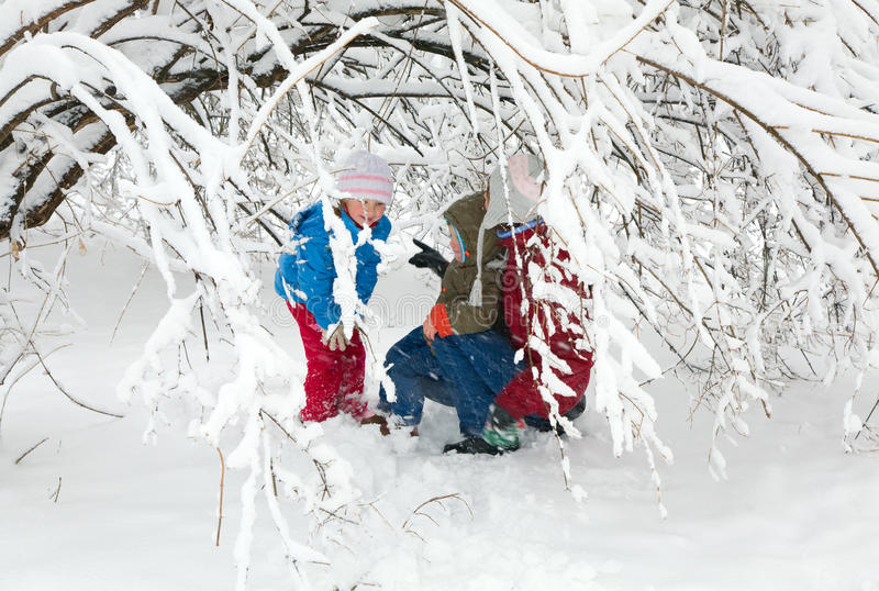 Download Family in winter park stock image. Image of game, beautiful - 11060693