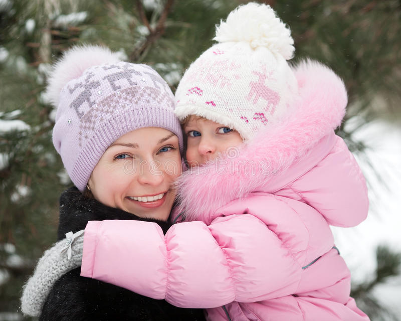Download Family in winter park stock photo. Image of smiling, bonding - 26648362