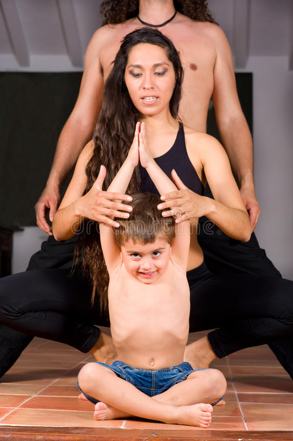 Download Family yoga stock image. Image of happiness, child, values - 19482885