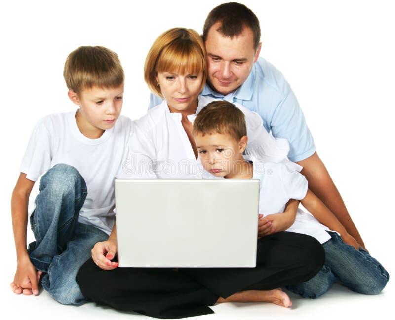 familys компьютера стоковые фото