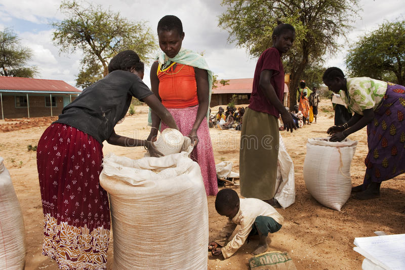 Famine stock photos