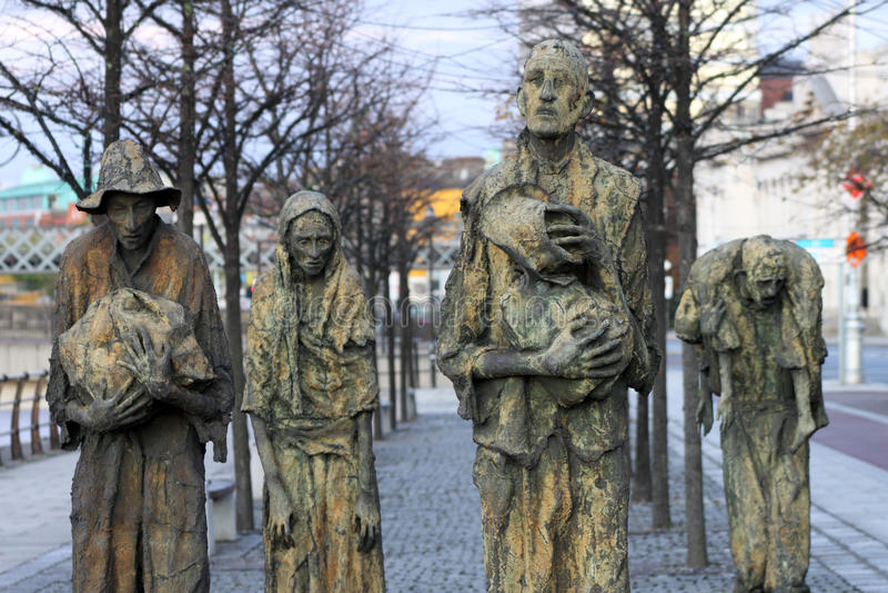 Famine Memorial Ireland royalty free stock image