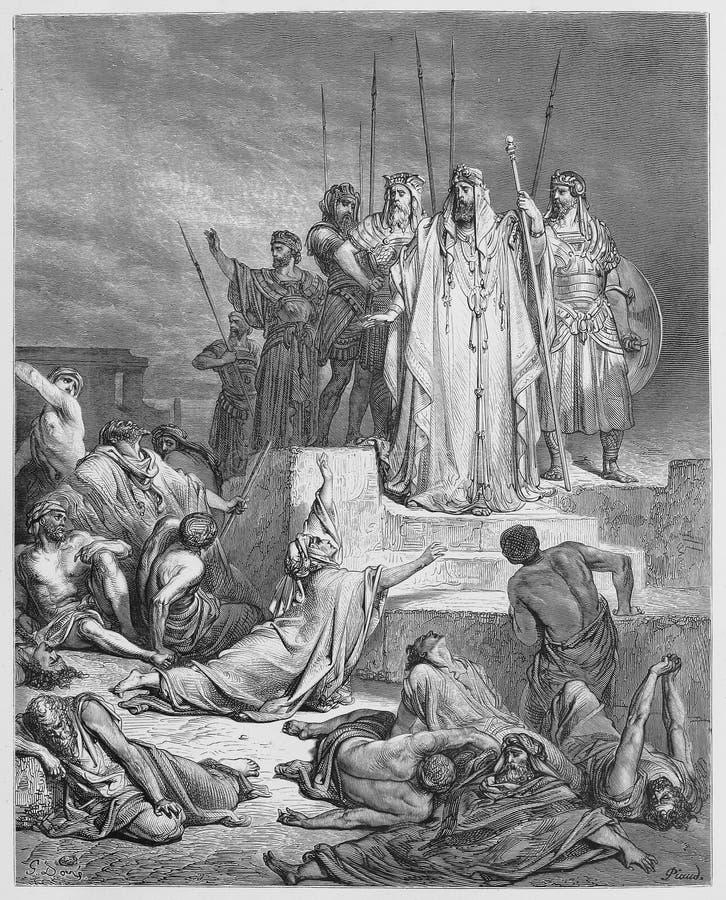 The Famine in Samaria stock image
