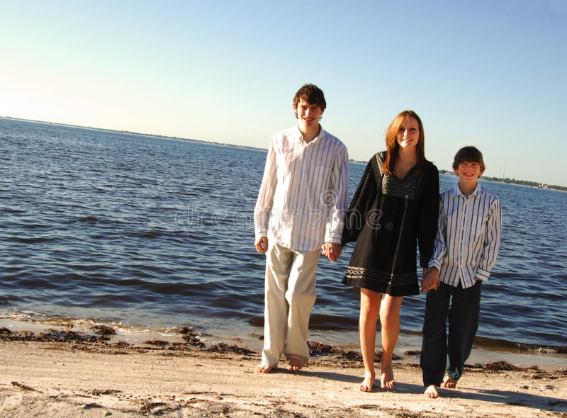 Download Famiy at beach stock photo. Image of kids, child, active - 7709060