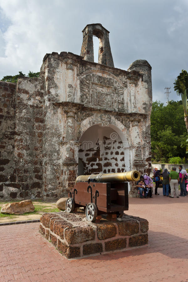A Famosa Fort, Malacca, Malaysia royalty free stock photo