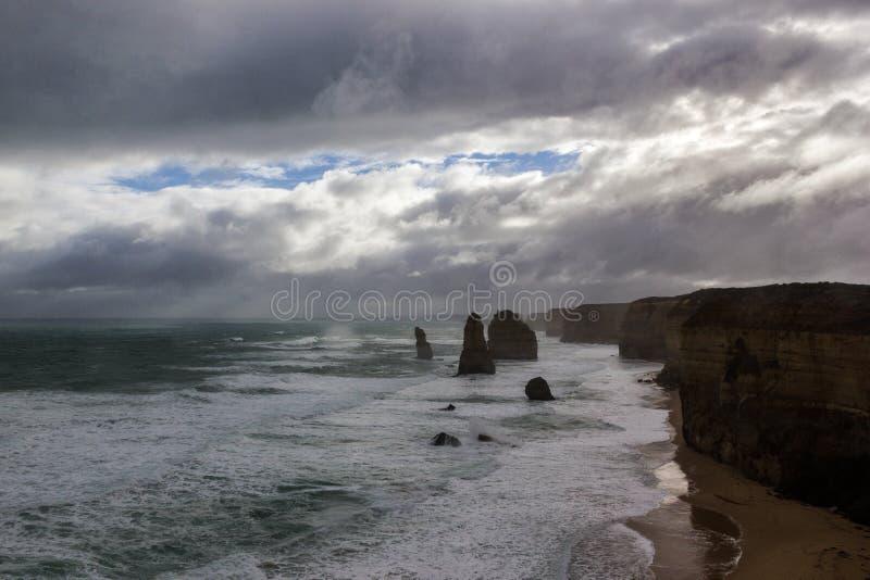 4 famosi dei 12 Apostel, Victoria, i dodici apostoli, grande strada dell'oceano, Victoria fotografia stock libera da diritti