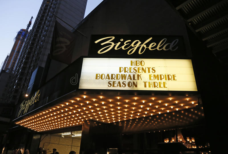 Famoso do teatro de Ziegfeld imagens de stock royalty free