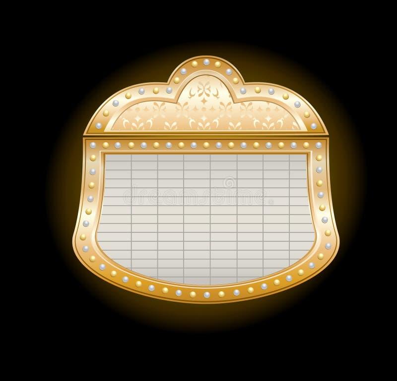 Famoso dourado do teatro ilustração royalty free