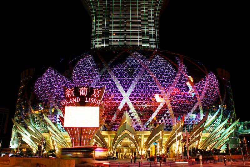Download Famoso Grande Do Diodo Emissor De Luz Do Casino De Lisboa, Macau, China Fotografia Editorial - Imagem de hotel, cultura: 107528032