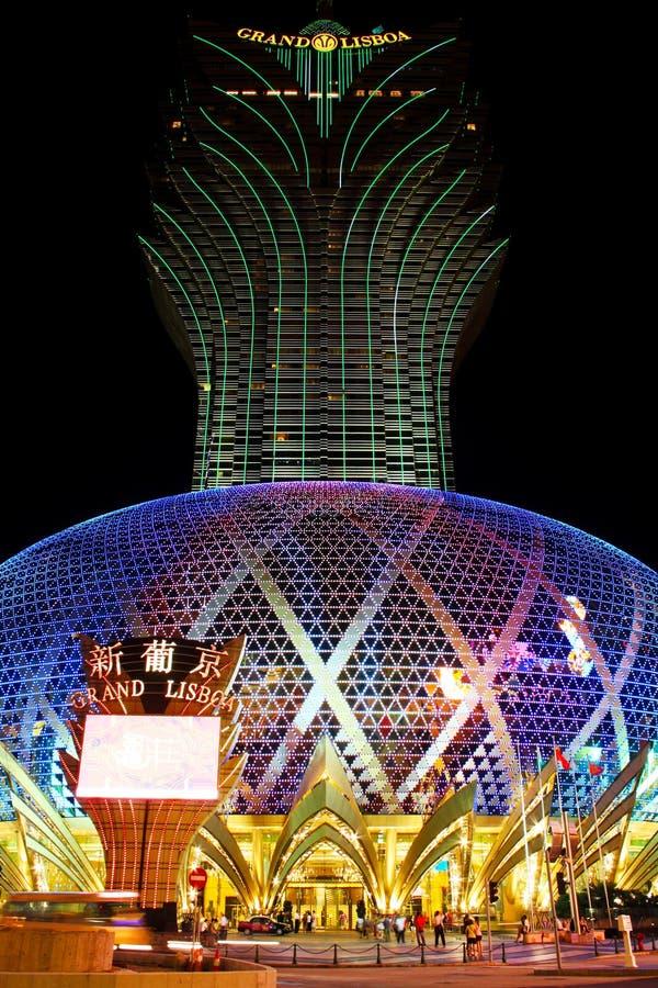 Download Famoso Grande Do Diodo Emissor De Luz Do Casino De Lisboa, Macau, China Foto de Stock Editorial - Imagem de asian, portugal: 107528068