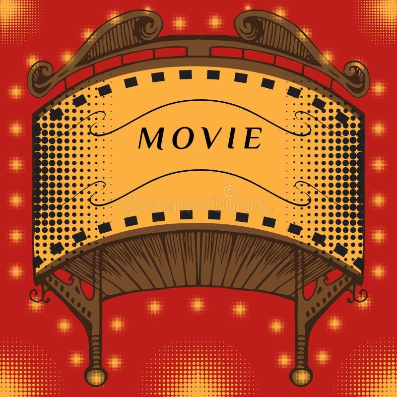 Famoso iluminado do cinema ilustração do vetor