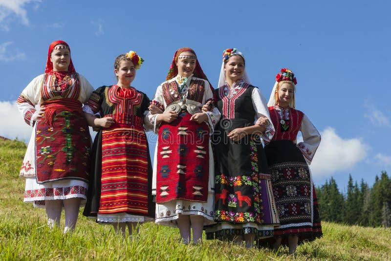 Famoso rozhen il festival di folclore in Bulgaria fotografie stock libere da diritti
