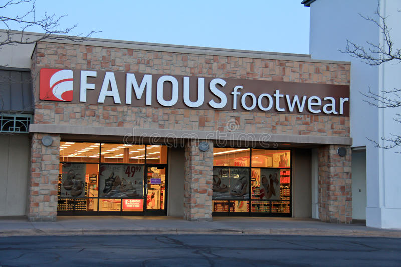 Famour Footwear store. An image of a Famous footwear shoe store in Salt Lake City, Utah stock photos