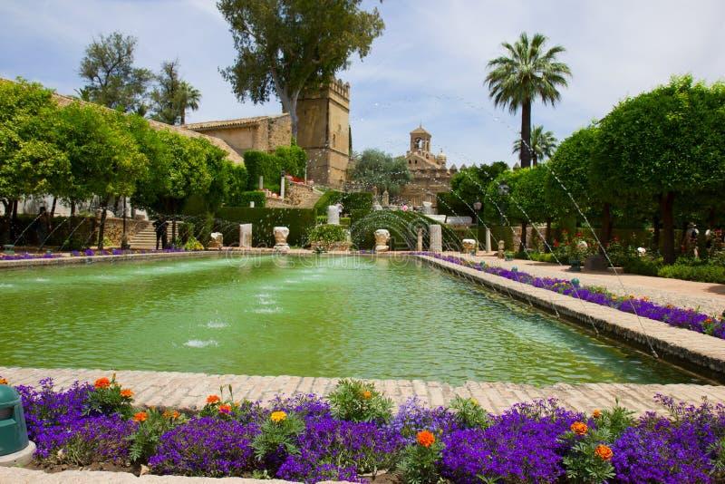 The famous Alcazar in Cordoba, Spain royalty free stock photo