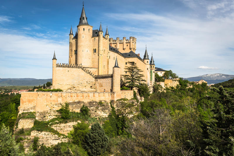 The famous Alcazar of Segovia, Castilla y Leon, Spain royalty free stock photo