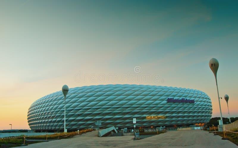 Allianz Arena at night royalty free stock photo