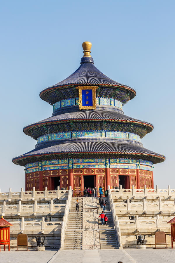 Famous Ancient Architecture Of The Temple Of Heaven In Beijing