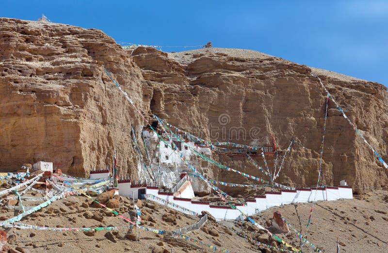 Famous Gurugyam Bon Monastery in Guge kingdom, Western Tibet. Famous ancient Gurugyam Bon Monastery in Guge kingdom, Western Tibet, China stock photo
