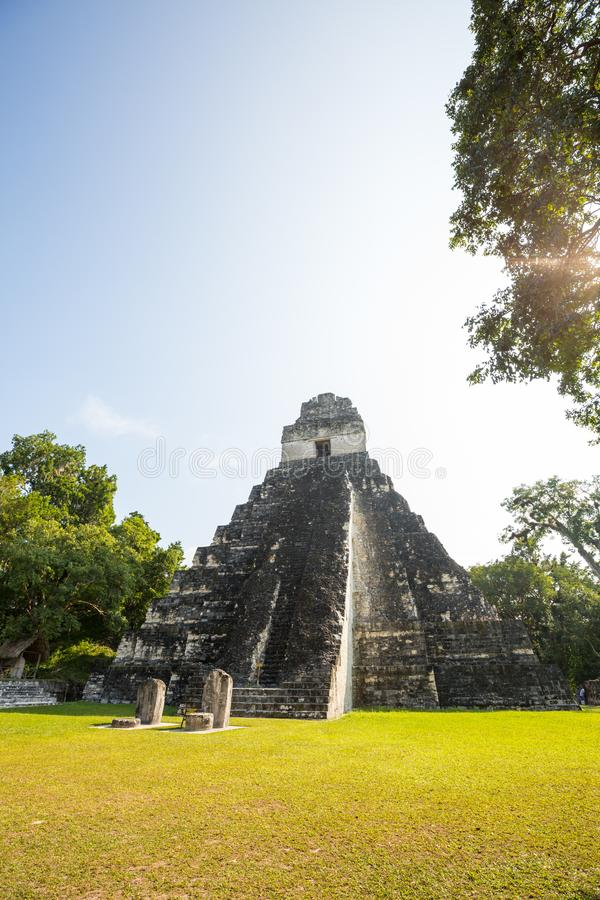 Tikal. Famous ancient Mayan temples in Tikal National Park, Guatemala, Central America royalty free stock images
