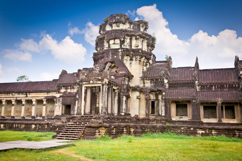 Famous Angkor Wat temple complex, Cambodia. Famous Angkor Wat temple complex, near Siem Reap, Cambodia stock photography