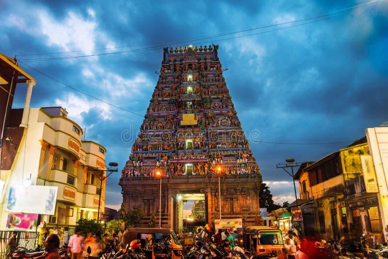 Famous Arulmigu Kapaleeswarar Temple in Chennai, India stock photo
