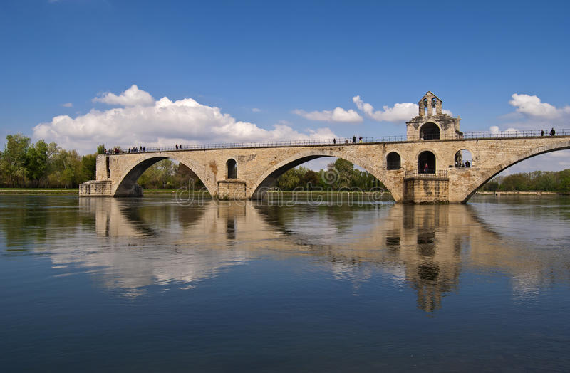 Famous Avignon bridge. The Pont Saint-Bénezet or Pont d'Avignon in Avignon, France stock images