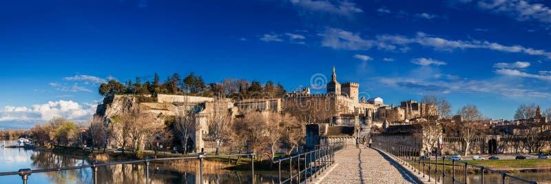 Famous Avignon Bridge also called Pont Saint-Benezet at Avignon stock image