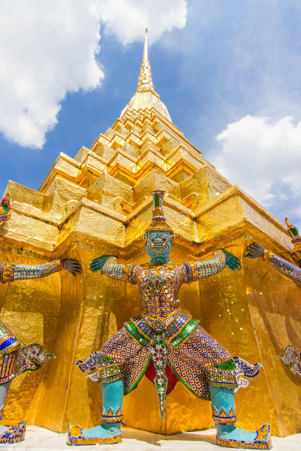 Famous Bangkok Temple royalty free stock photography