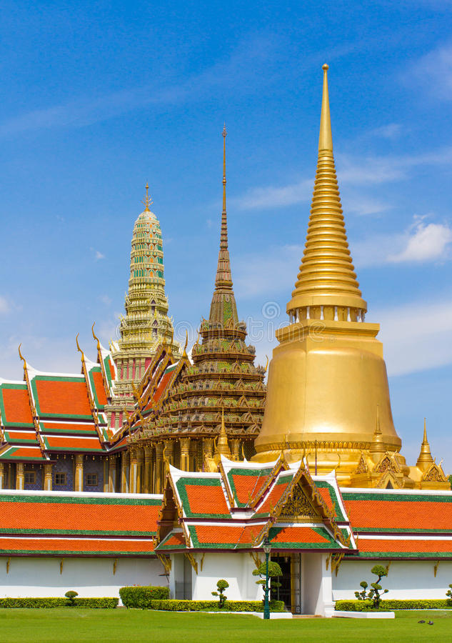 Famous Bangkok Temple royalty free stock photos