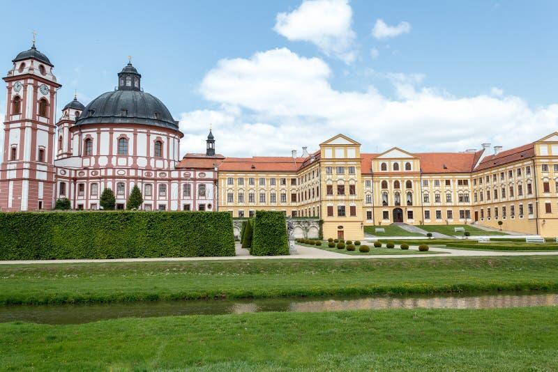 Famous Baroque Chateau Jaromerice Nad Rokytnou Stock Images