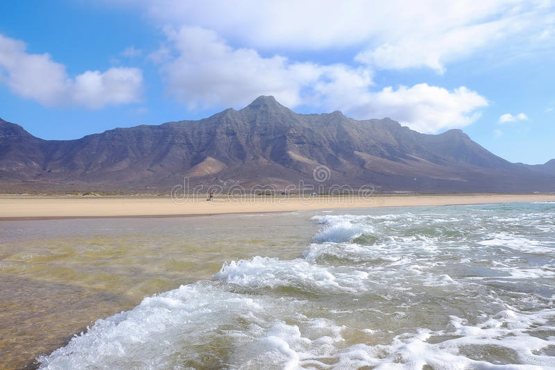 Famous beach Cofete on Fuerteventura, Spain. royalty free stock images