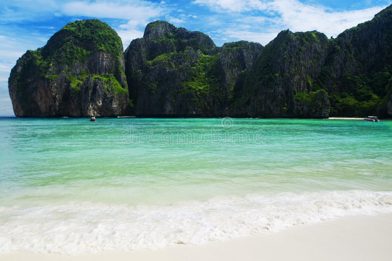 Download Famous beach in Thailand stock photo. Image of exotic - 3933332