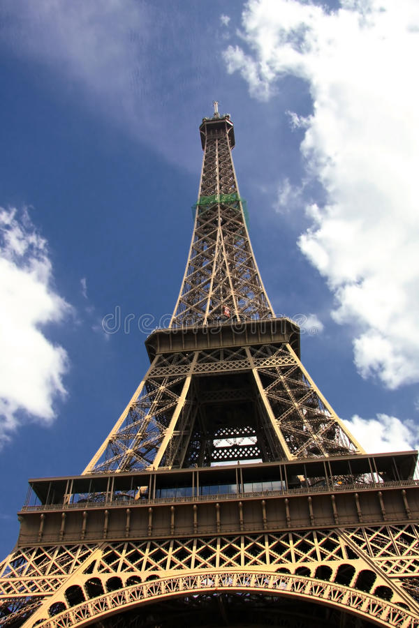 Famous and beautiful Eiffel tower stock photos