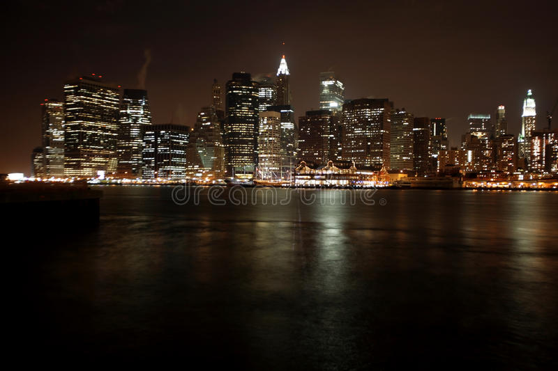 Download Famous And Beautiful Night View To Manhattan From Brooklyn Stock Photo - Image of brooklyn, apartment: 37054608
