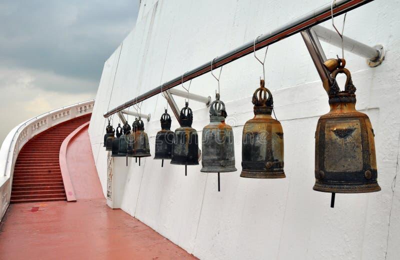 The Famous Bells of Golden Mount, Bangkok stock photo