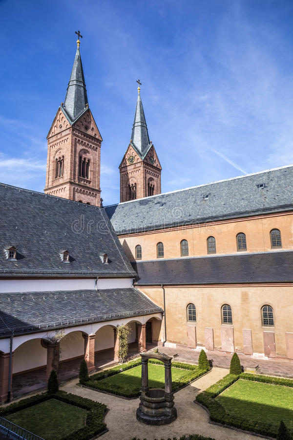 Famous benedictine cloister in Seligenstadt, Germany stock images