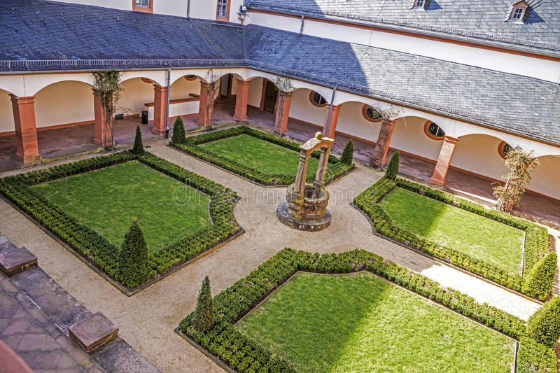 Famous benedictine cloister in Seligenstadt, Germany stock photo