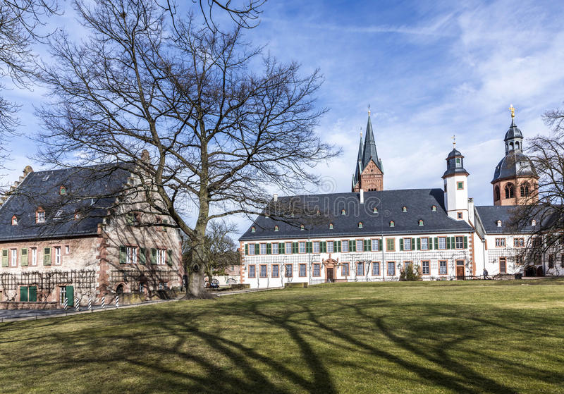 Famous benedictine cloister in Seligenstadt, Germany royalty free stock image