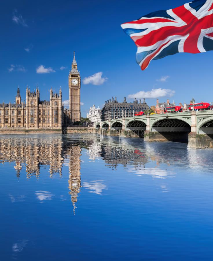 Big Ben and Houses of Parliament in London, England, UK royalty free stock image