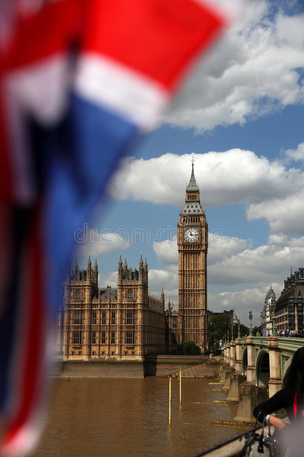 Famous Big Ben In London Stock Images