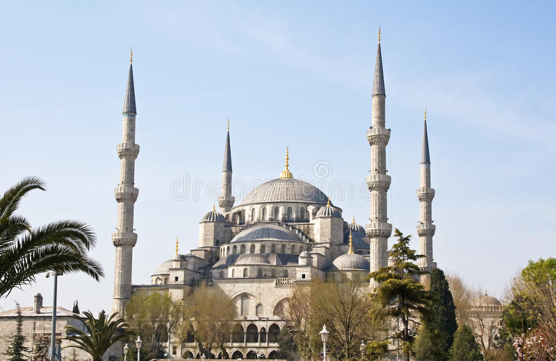 Famous blue mosque in Istanbul royalty free stock image